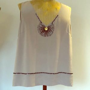 St. John couture collection silk top - worn once